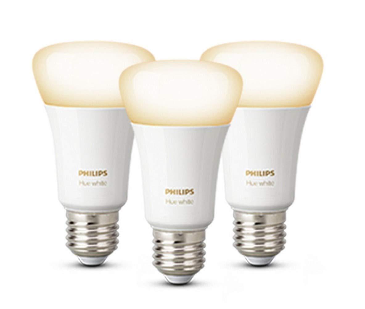 Philips Hue White Smart Bulb 3 Pack LED Bundle [E27 Edison Screw] with Bluetooth £29.99 Amazon