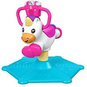 Fisher price GHY50 bounce and spin unicorn,stationary musical ride on toy £32.80 @ Amazon