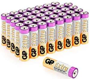 Gp AA Batteries Pack of 40 £6.39 (Prime) / £10.88 (non Prime) Sold by GPBatteries Direct and Fulfilled by Amazon.