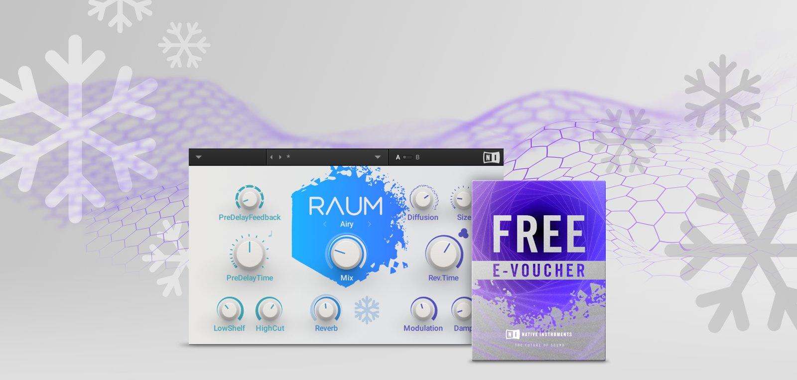 £22.00 e-voucher at Native Instuments & Free new reverb RAUM software