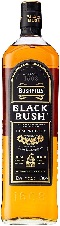 Bushmills Black Bush Irish Whiskey, 1 L @ Amazon - £25.90