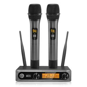 TONOR Dual Wireless Microphone UHF Professional Handheld Dynamic Wireless Mic System £69.29 Sold by Micfonotech and Fulfilled by Amazon.