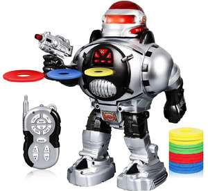 Remote controlled, shooting robot - £9.99 (Prime) £14.48 (Non Primr) @ Sold by Hooland Direct and Fulfilled by Amazon.