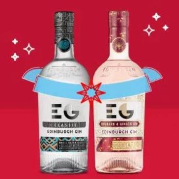 2 x 70cl bottles Edinburgh Gin, Gift Bag and Gift Box - £34.99 @ Amazon Treasture Truck