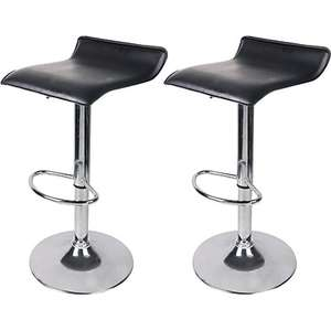 Black & Chrome Effect Bar Stools - Pack Of 2, £28 free C&C at Wickes )