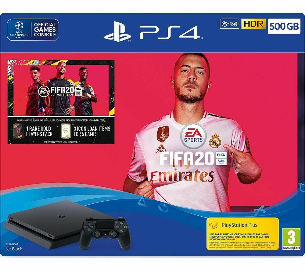 Sony PlayStation 4 500GB Slim FIFA 20 Bundle £189.05 from Currys PCWorld eBay using code
