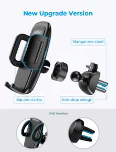 Mpow Car Phone Holder, Air Vent Phone Mount with 3-Level Adjustable Clamp £6.39 (Prime) / £10.88 (nonPrime) Sold by SJH EU LTD & FB Amazon.