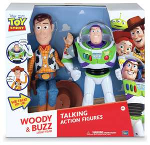"""Disney Toy Story Woody and Buzz Talking Figures (12"""" and 16"""" tall) £20 @ Argos - (Free and Collect)"""