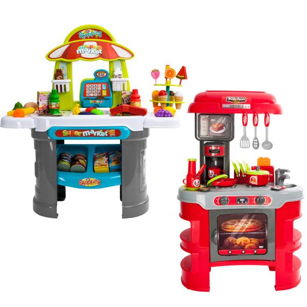 Kid's Play Supermarket Counter + Accessories £13.97 Delivered / Play Kitchen With Sounds & Accessories £16.98 Delivered @ Ebuyer