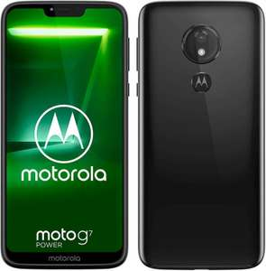 Refurbished Motorola G7 Power 6.2'' 64GB/4GB Mobile Phone Black £85.49 delivered with code @ Stockmustgo ebay