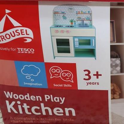Carousel Wooden Play Toy kitchen reduced now £25 at Tesco Roborough