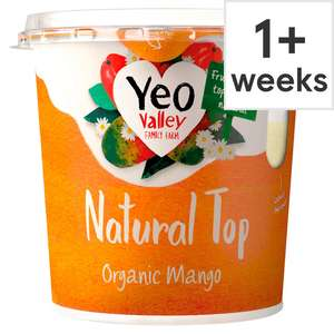 Yeo Valley Natural Top Yogurt 350g £1 (25p with voucher out of magazine) at Tesco