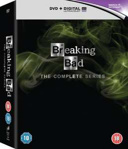 Breaking Bad Complete Series (DVD) Plus UV Digital Download £13.84 / £12.45 Delivered with Code at Zoom.co.uk