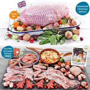 Luxury 2-2.5kg British Turkey Butterfly + 350g Streaky Bacon, Sausage Meat, Stuffing, Chipolatas, Gravy & More £29 Delivered @ Musclefood