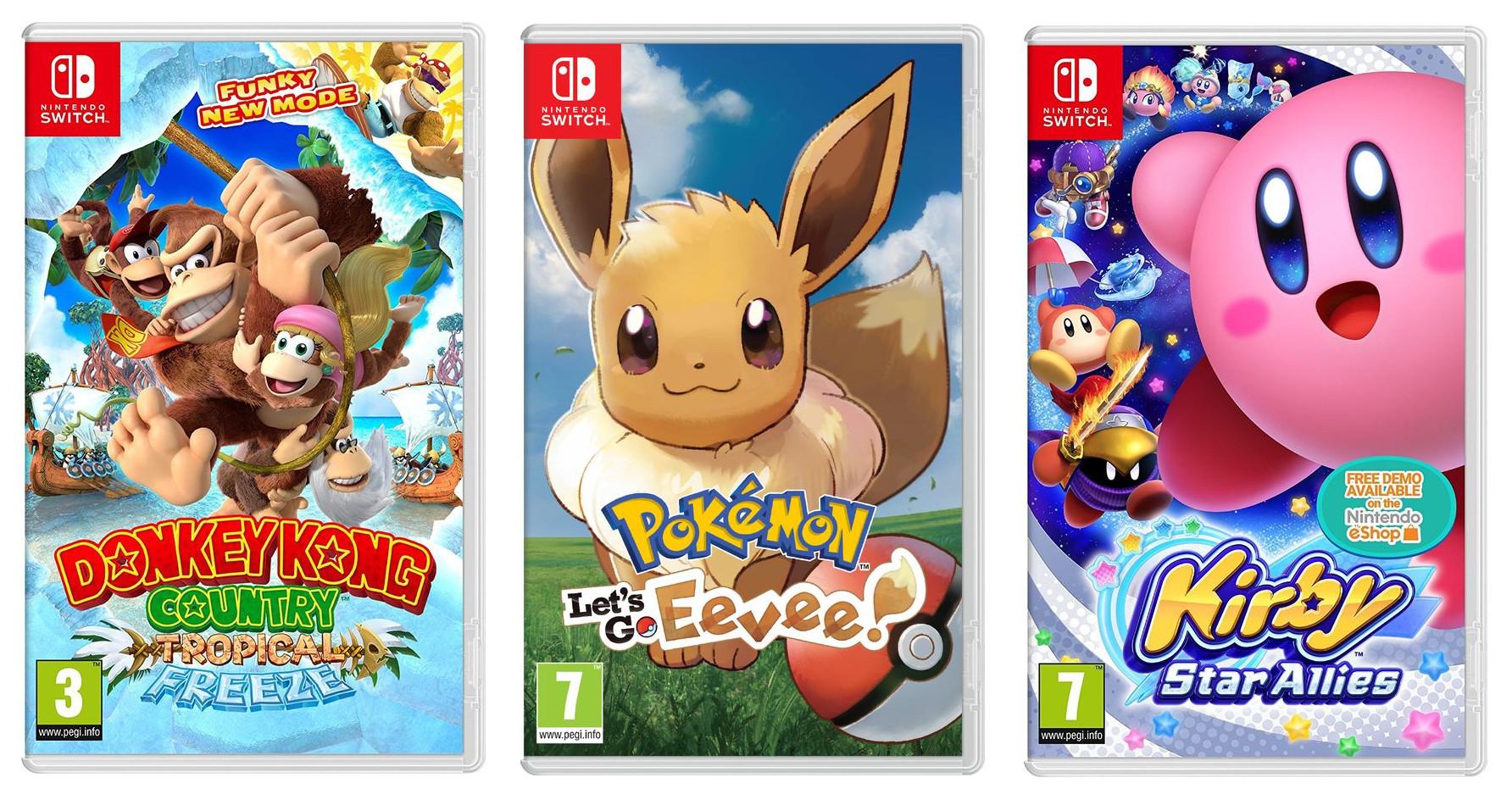 Donkey Kong Country: Tropical Freeze / Pokémon: Let's Go, Eevee! / Kirby Star Allies (Switch) +Spotify Premium - £36.99 each @ Currys
