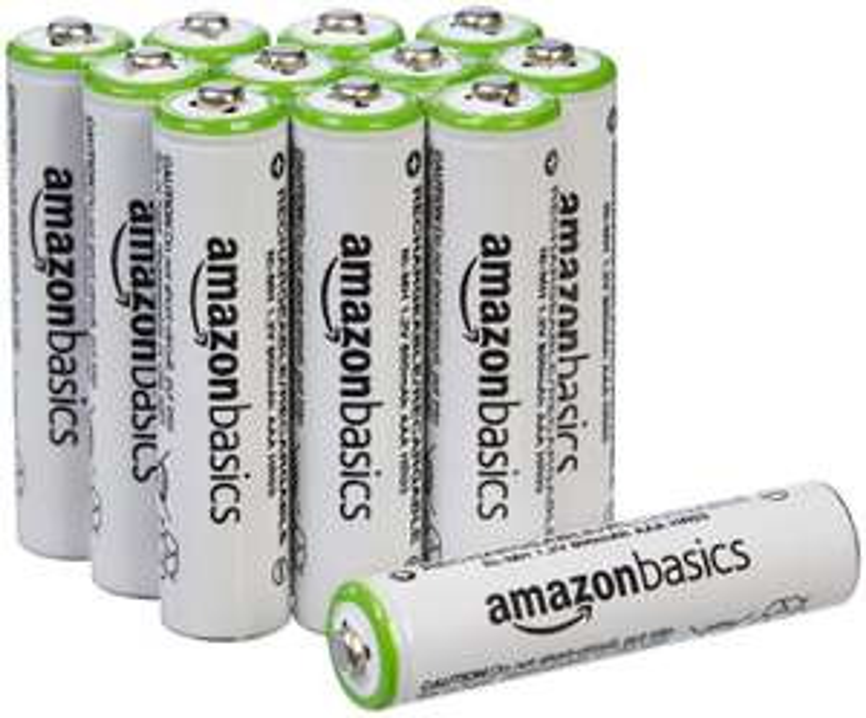 16x AmazonBasics AA Pre-charged Rechargeable Batteries 2000 mAh £17.76 / AAA PreCharged Batteries 800 mAh 12 pack £11.19 (+£4.49 non prime)