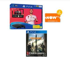 Sony PS4 500GB FIFA 20 Bundle + The Division 2 + 2 Months Now TV Entertainment Pass - £199 Delivered @ Game