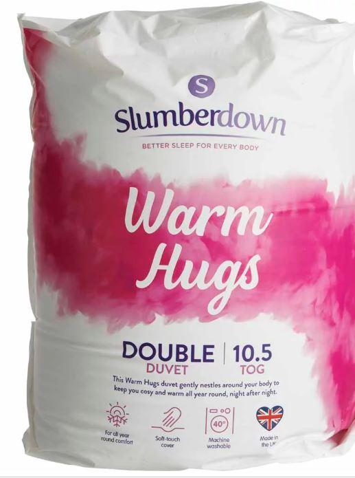 Slumberdown Double Warm Hugs Duvet 10.5 Tog £9.50 In-store and online at Wilko