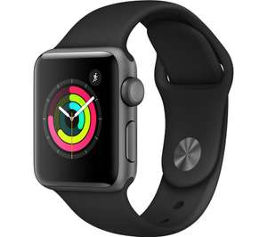 APPLE Watch Series 3 - Space Grey & Black Sports Band, 38 mm £199 (£99 with old apple watch trade in) at Currys PC World