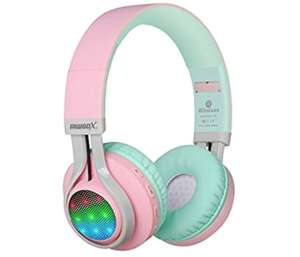 Riwbox WT-7S Kids Headphones Bluetooth or Wired, LED Light Up £12.77 Prime / £19.98 Non Prime Sold by Vinpak and Fulfilled by Amazon