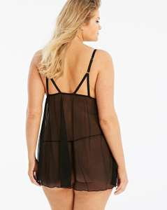 Simply Be Strappy Black Babydoll £9