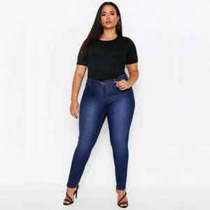 Premium skinny stretch denim jeans in sizes 8 - 18 now £5.00 + Free delivery @ Misspap