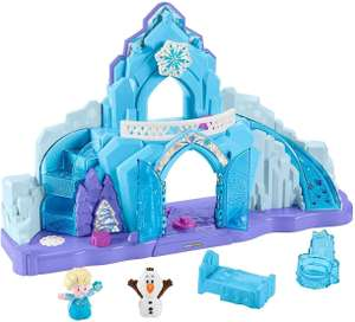 Little People GGV29 Fisher-Price Disney Frozen Elsa's Ice Palace, Musical Light-Up Playset, Multi-Colour £27.98 @ Amazon