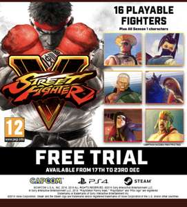 Play Street Fighter V Free Trial (Steam and PS4) @ PlayStation Network