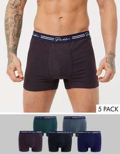 Purple Prolific trunks 5 pack £10 + £1 Delivery @ River Island - 10% Quidco Cashback