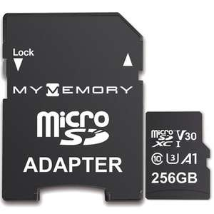MyMemory 256GB V30 PRO Micro SD (SDXC) A1 UHS-1 U3 + Adapter - 100MB/s £23.99 at MyMemory