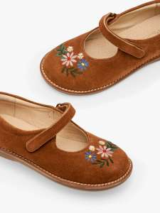 Mini Boden Floral Mary Jane Shoes, Tan - £10.50 (+£3.50 Postage) @ John Lewis & Partners