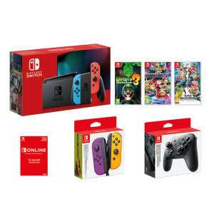 Nintendo Switch Bundle - Neon (Improved Battery) - £529 @ GAME