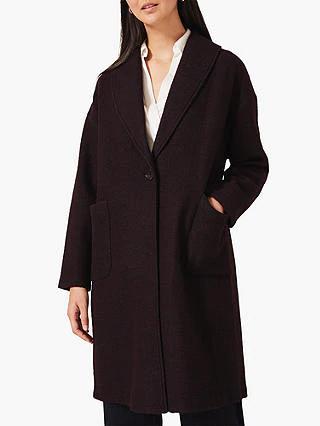 Phase Eight Sally Shawl Coat, Port £65 @ John Lewis & Partners