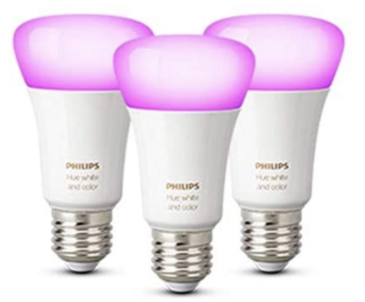 Philips Hue White and Colour Ambiance Smart Bulb 3 Pack LED Bundle [E27 Edison Screw] £79.99 @ Amazon