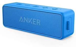 Anker [Upgraded] SoundCore 2 Portable Bluetooth Speaker IPX7 Waterproof (Blue) - £27.99 Sold by AnkerDirect and Fulfilled by Amazon