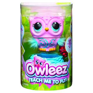 Owleez Flying Baby Owl Interactive Toy with Lights and Sounds in Pink or White £26 @ Amazon