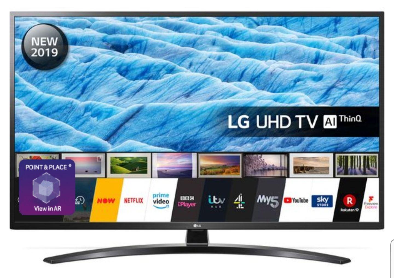 "LG55UM7450PLA 55"" Smart 4K Ultra HD HDR LED TV with Google Assistant + £5 voucher + 6 months Spotify + Quidco 1.17%"