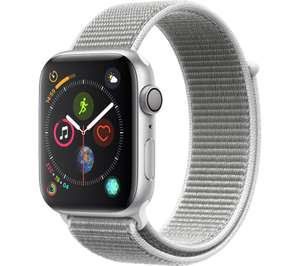 APPLE Watch Series 4 - Silver & Seashell Sports Loop, 44 mm £319 (£100 Trade In For Any Old Apple Watch Total £219) @ Currys PC World
