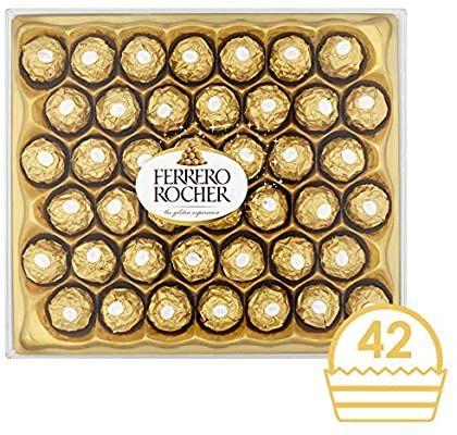 Ferrero rocher 42 pieces £9.50 @ Amazon prime (£4.50 p&p non prime)