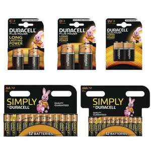 Duracell batteries bundle, £14.99 + £1.99 p&p @ idealworld.tv