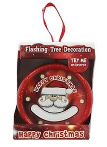 Flashing Christmas Bauble - Santa Blank - 1 for 75p with code or 3 for £2 C&C @ Works