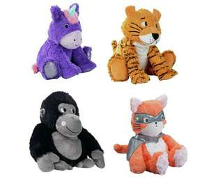 Microwaveable Hotties £5 @ Argos (Free Click and Collect) Choice of Unicorn, Gorilla, Tiger and Cat