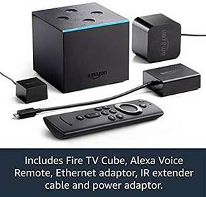 All-new Fire TV Cube | Hands free with Alexa, 4K Ultra HD streaming media player £89.99 at Amazon