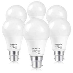 (6 Pack) SHINE HAI 60W Equivalent,B22 LED Bayonet Light Bulbs £8.49 Prime / £12.98 Non Prime Sold by TX (EURO) Seller & Fulfilled by Amazon