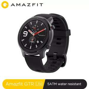Xiaomi Amazfit GTR 47mm Lite Smart Watch 5ATM Waterproof Smartwatch 24Days £89.07 @ amazfit Official Store/Aliexpress