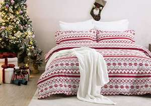 Bedsure Christmas Duvet Cover Set Double Size £6.30 delivered with code @ Sold by Bedsure Direct and Fulfilled by Amazon.