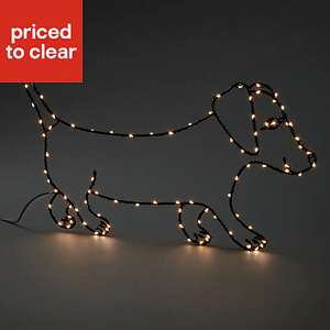 Warm white LED Sausage dog Silhouette now £3 at B&Q