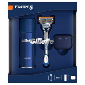 Gillette Fusion 5 Gift Set with Shaving Gel & Travel Cover £6.66 + Many Other Gift Sets Reduced @ Gillette (Free P&P)