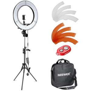 Neewer 14-inch LED 36W 5500K Ring Light and Light Stand Lighting Kit for £30.80 delivered (using code) @ Nashes CamSpace fulfilled by Amazon