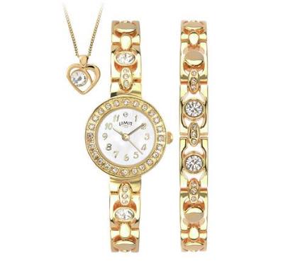 Limit Ladies' Gold Plated Bracelet, Pendant and Watch Set £19.99 @ Argos